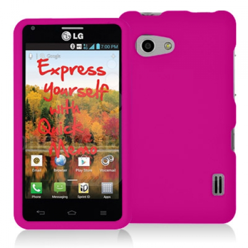 LG Mach LS860 Hot Pink Hard Rubberized Case Cover