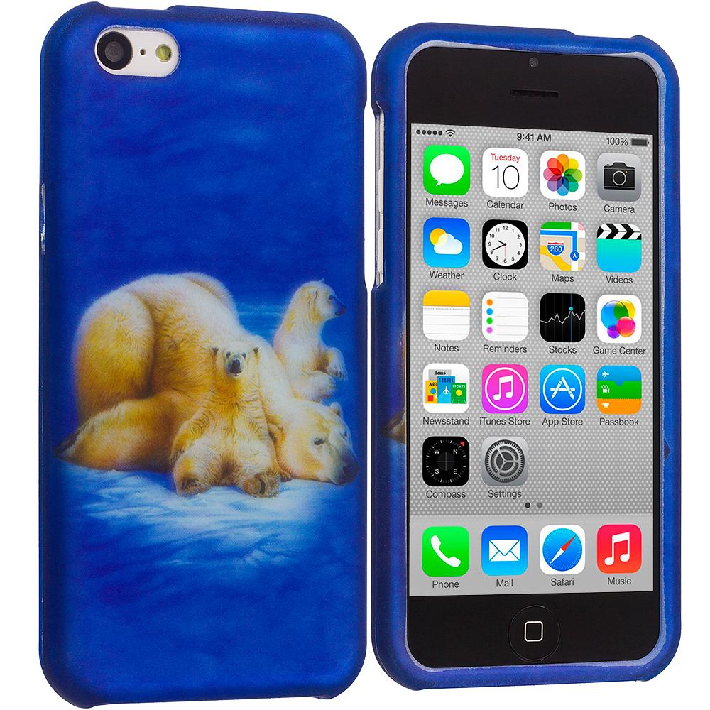 Apple iPhone 5C Polar Bear Hard Rubberized Design Case Cover