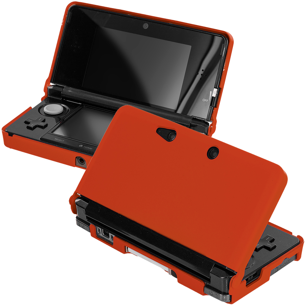 Nintendo 3DS Orange Hard Rubberized Case Cover