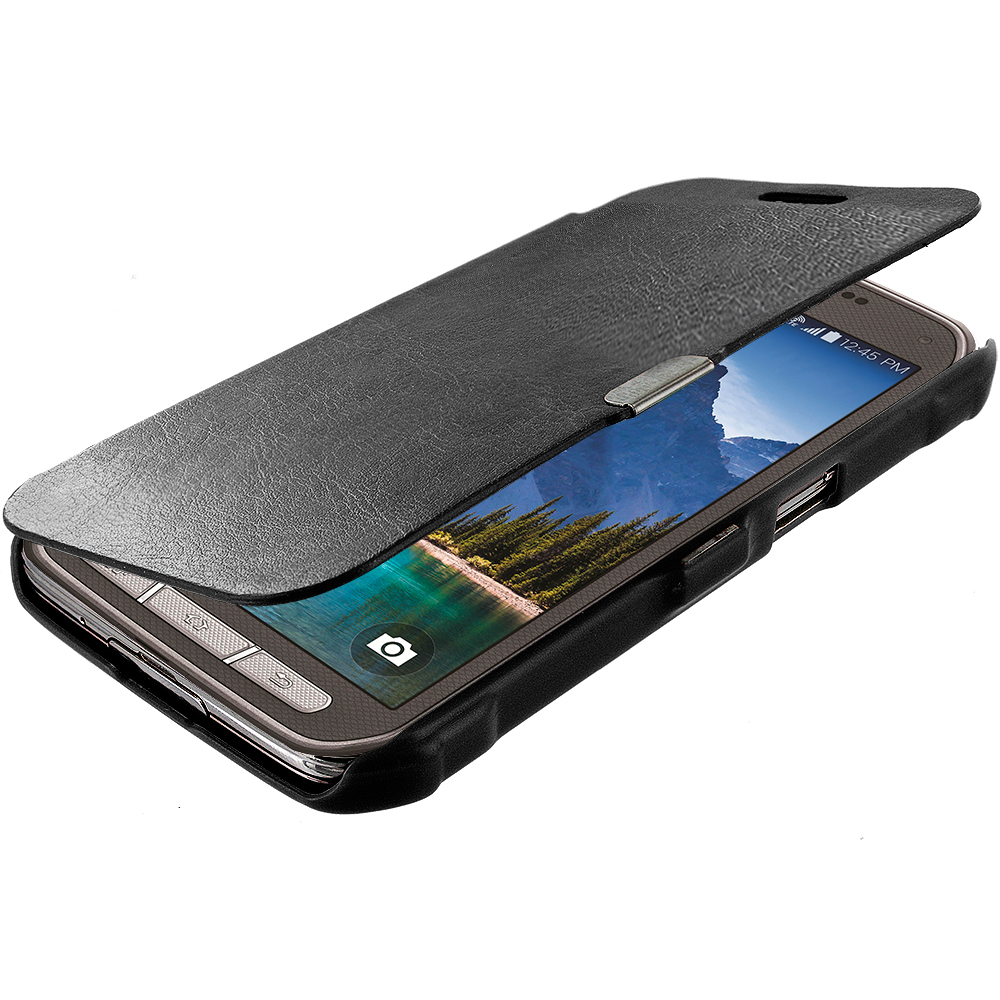 For Samsung Galaxy S5 Active Magnetic Wallet Closing Hard ...
