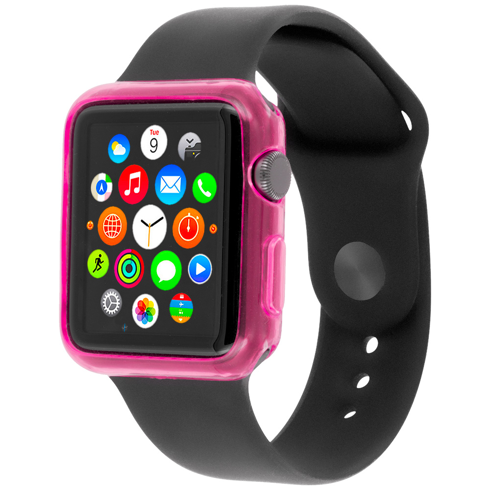 Apple Watch 42mm Hot Pink TPU Rubber Skin Case Cover