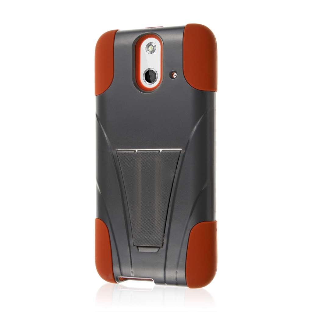 HTC One E8 - Sandstone / Gray MPERO IMPACT X - Kickstand Case Cover