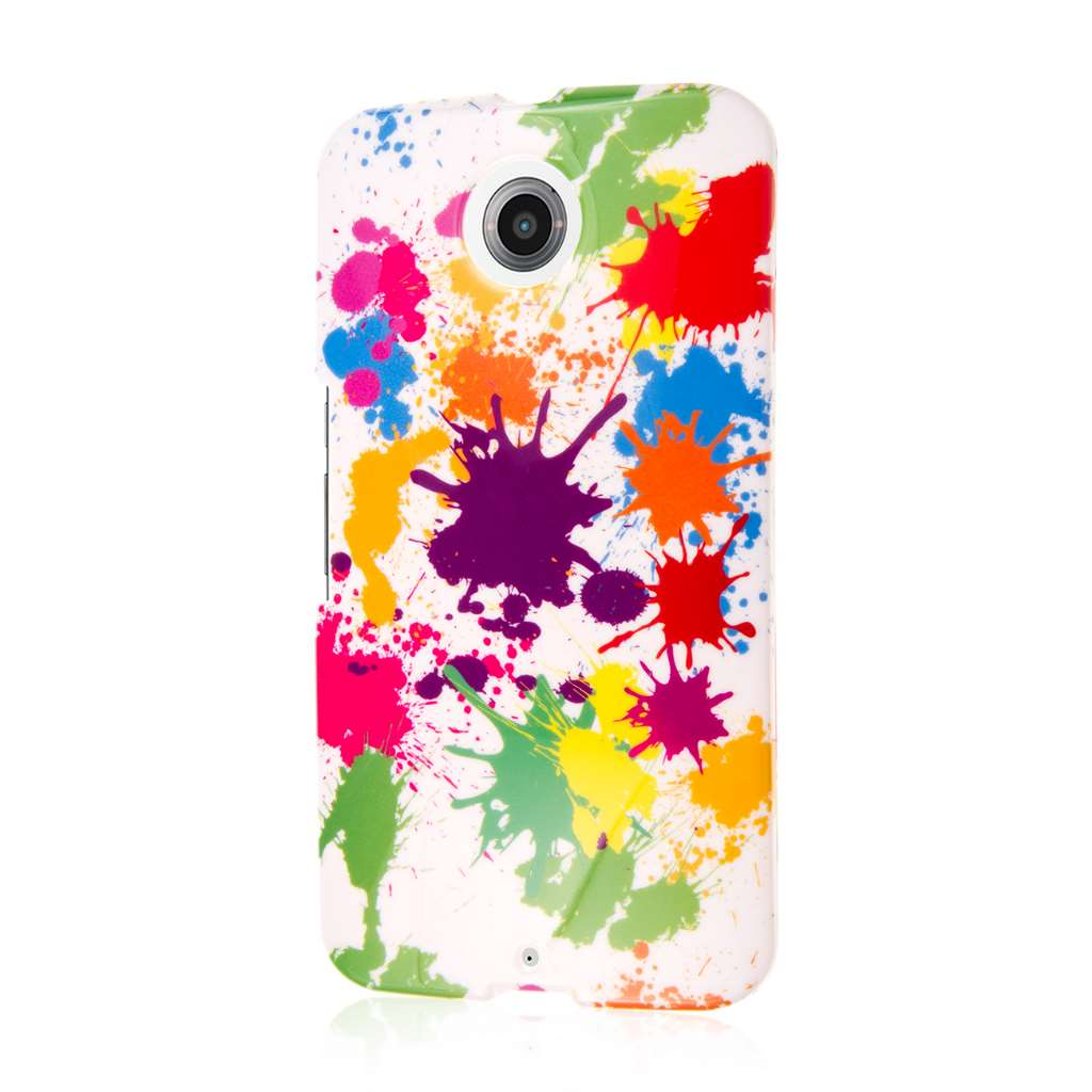 Google Nexus 6 - White Paint Splatter MPERO SNAPZ - Case Cover