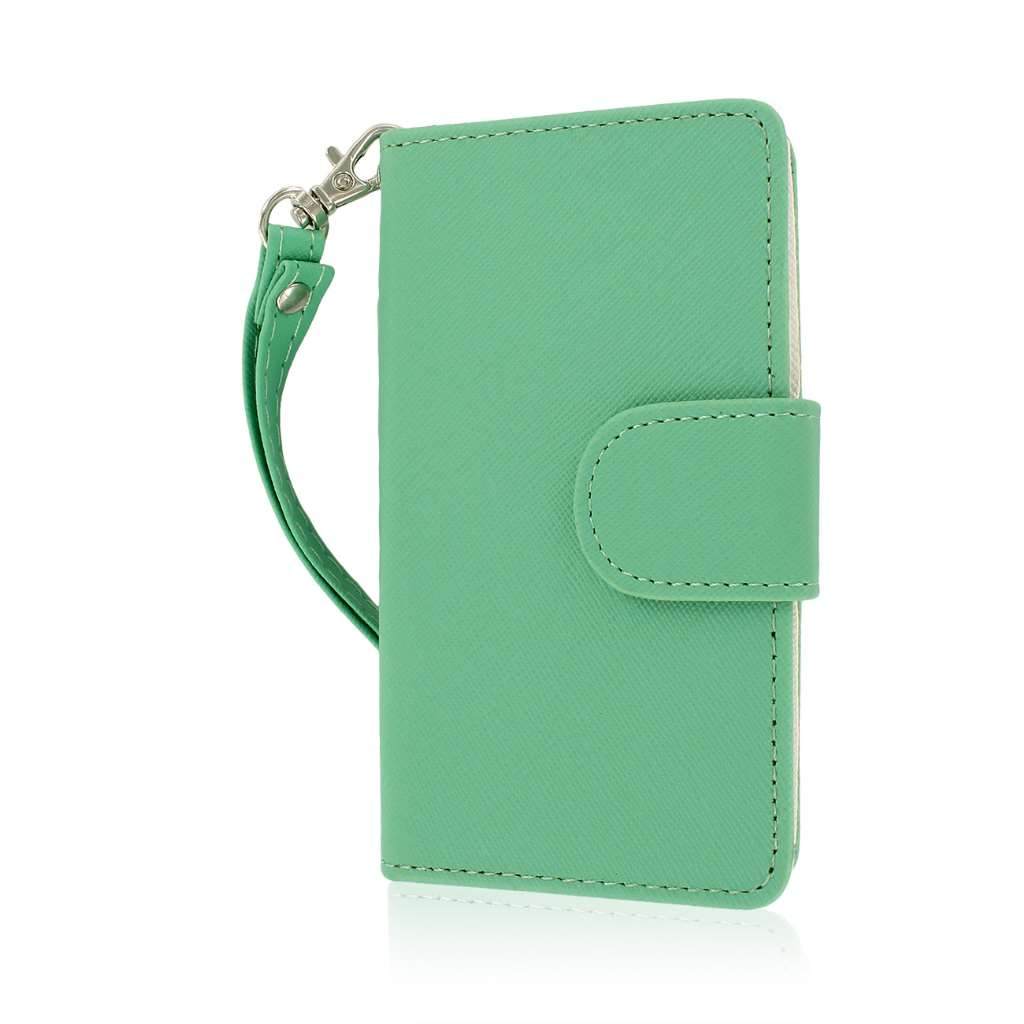 LG Optimus F3 - Mint MPERO FLEX FLIP Wallet Case Cover