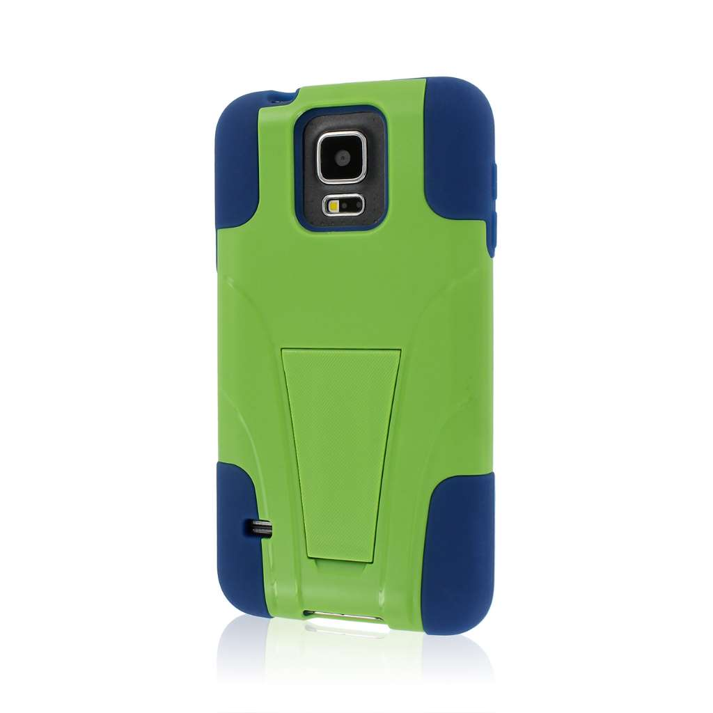 Samsung Galaxy S5 - Blue / Green MPERO IMPACT X - Kickstand Case Cover