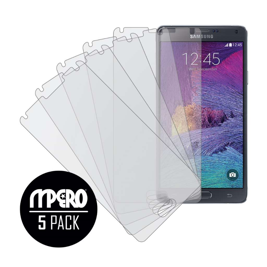 Samsung Galaxy Note 4 MPERO 5 Pack of Matte Screen Protectors