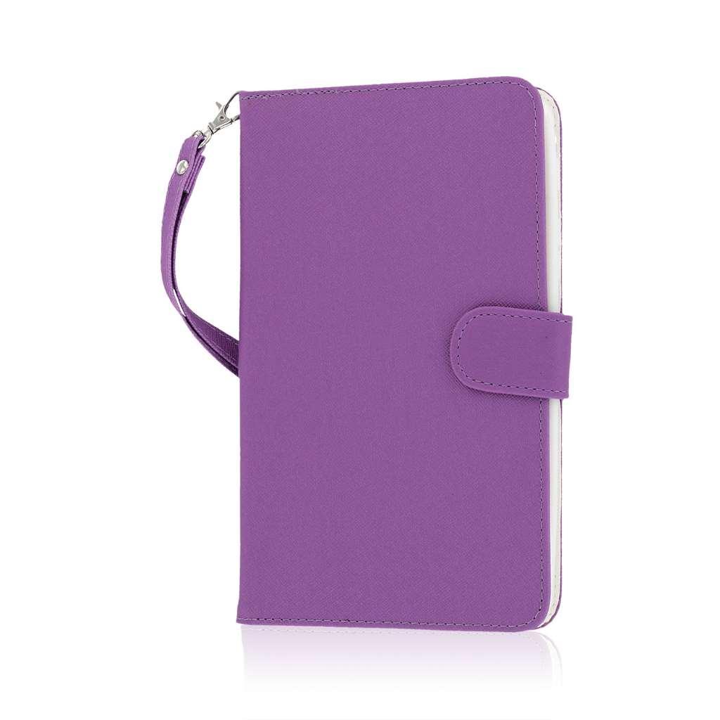 Samsung Galaxy Tab 4 7.0 - Purple MPERO FLEX FLIP Wallet Case Cover
