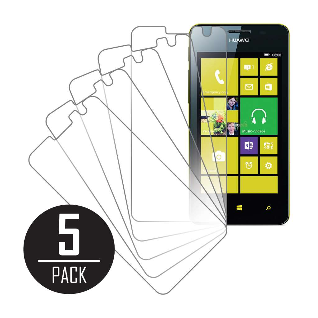 Huawei Ascend W2 MPERO 5 Pack of Clear Screen Protectors