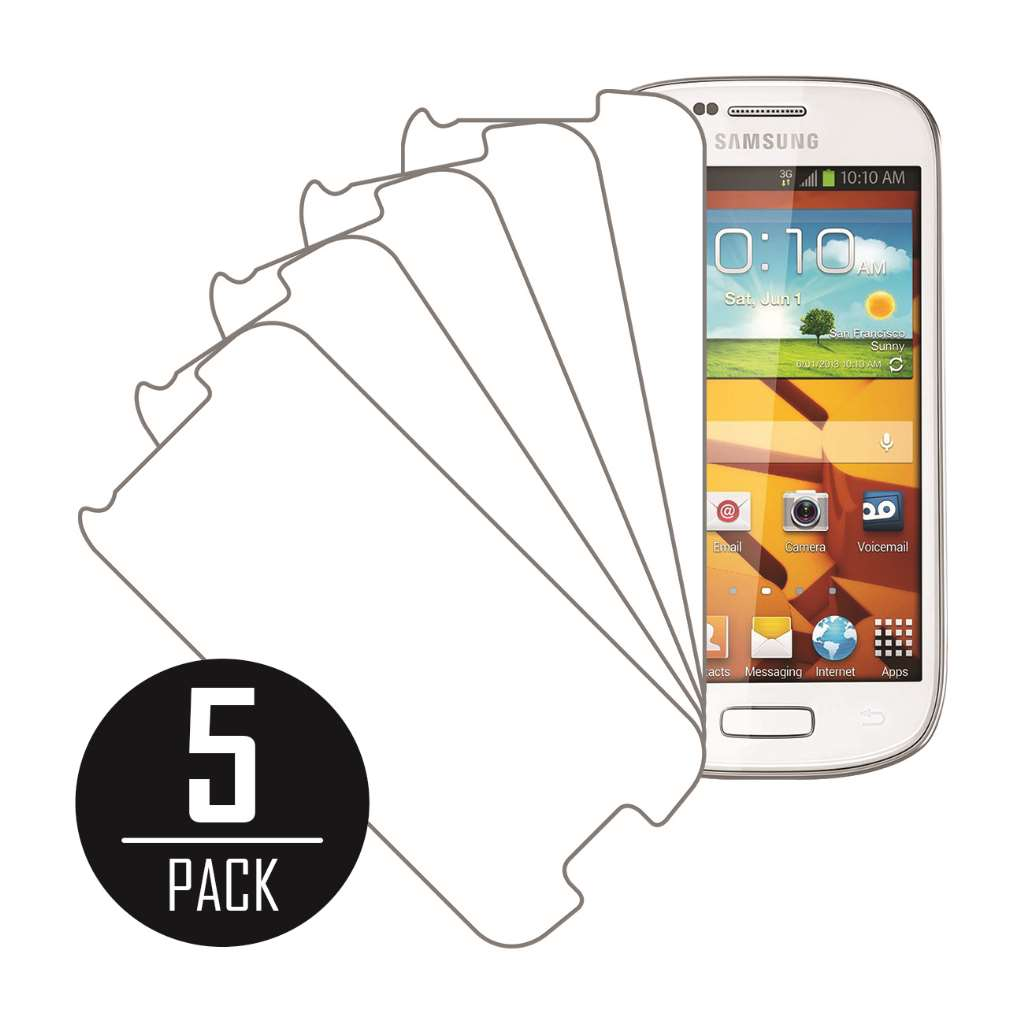 Samsung Galaxy Prevail 2 MPERO 5 Pack of Clear Screen Protectors
