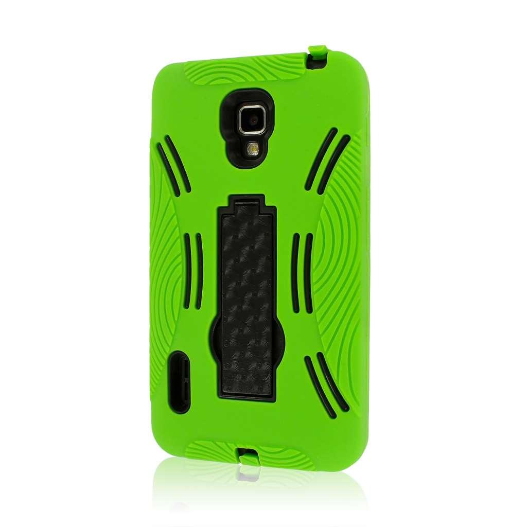 LG Optimus F7 US780 - Neon Green MPERO IMPACT XL - Kickstand Case Cover