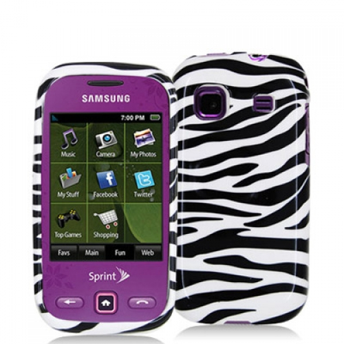 Samsung Trender M380 Black / White Zebra Design Crystal Hard Case Cover