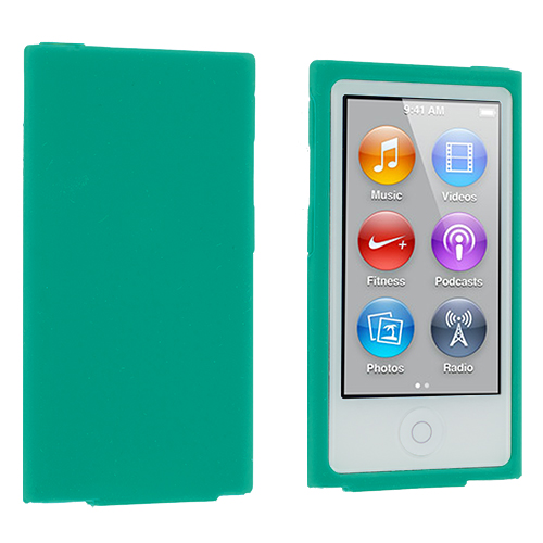 Apple iPod Nano 7th Generation Teal Silicone Soft Skin Case Cover