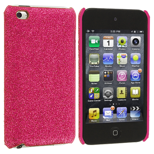 Apple iPod Touch 4th Generation Pink Glitter Case Cover