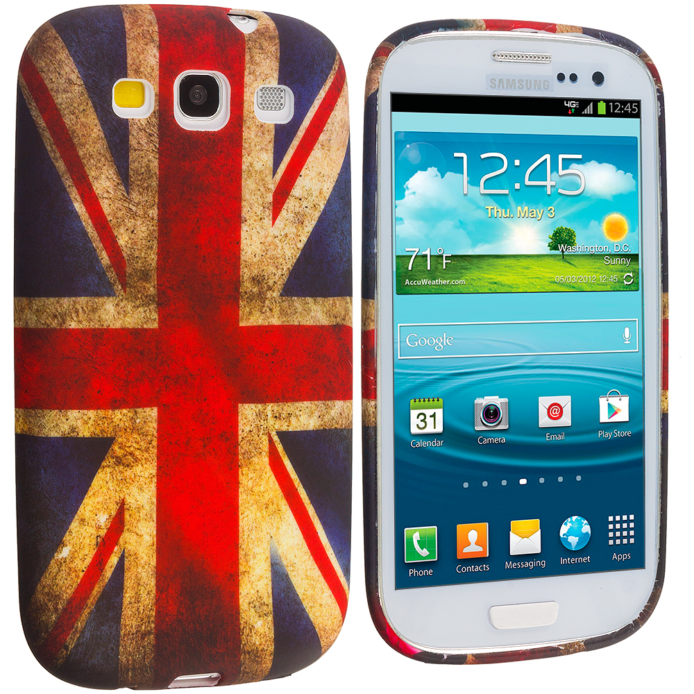 Samsung Galaxy S3 The Union Flag TPU Design Soft Case Cover