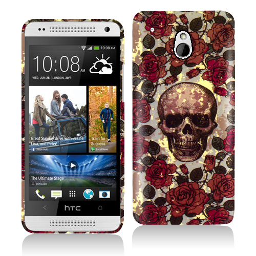 HTC One Mini Gorgeous Skull Hard Rubberized Design Case Cover