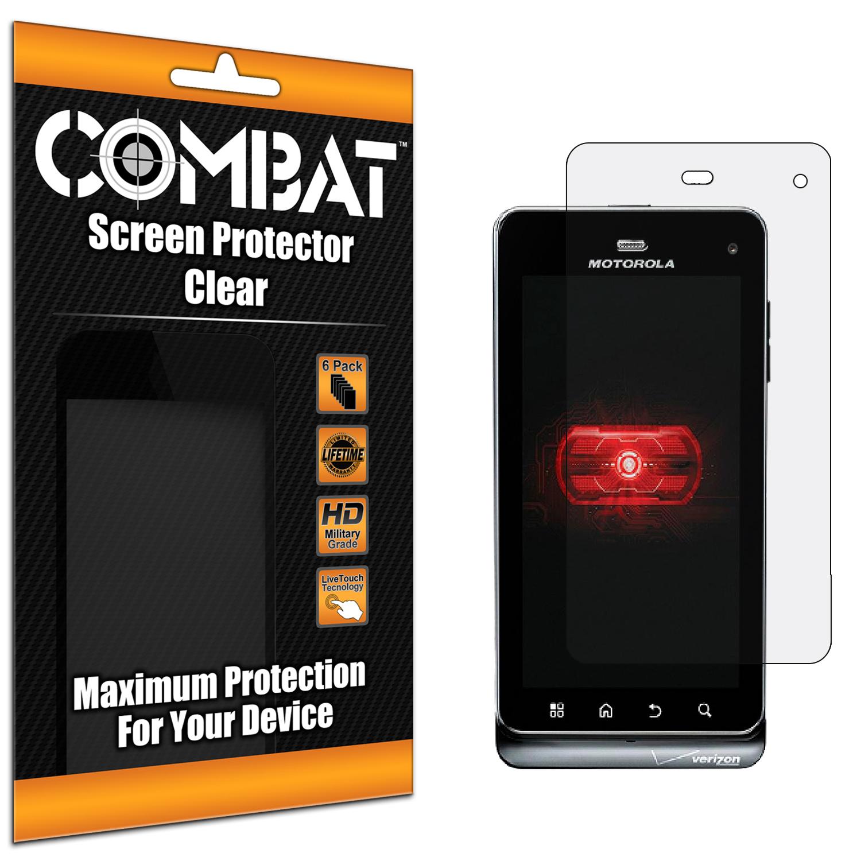 Motorola Droid 3 XT862 Combat 6 Pack HD Clear Screen Protector