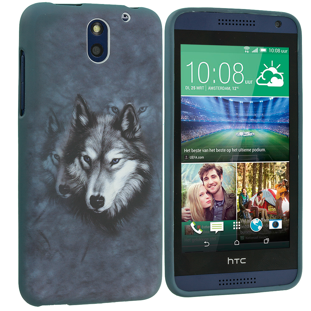 HTC Desire 610 Wolf TPU Design Soft Rubber Case Cover