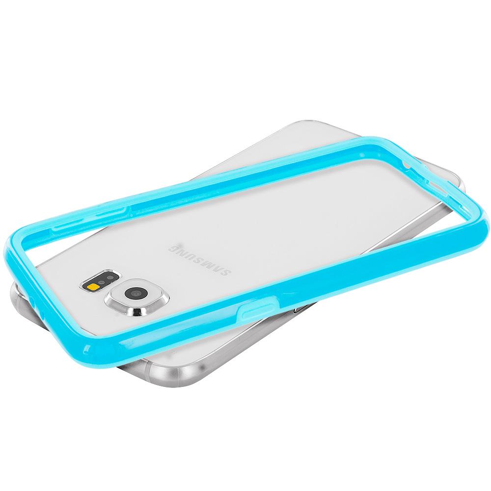 Samsung Galaxy S6 Baby Blue TPU Bumper Frame Case Cover