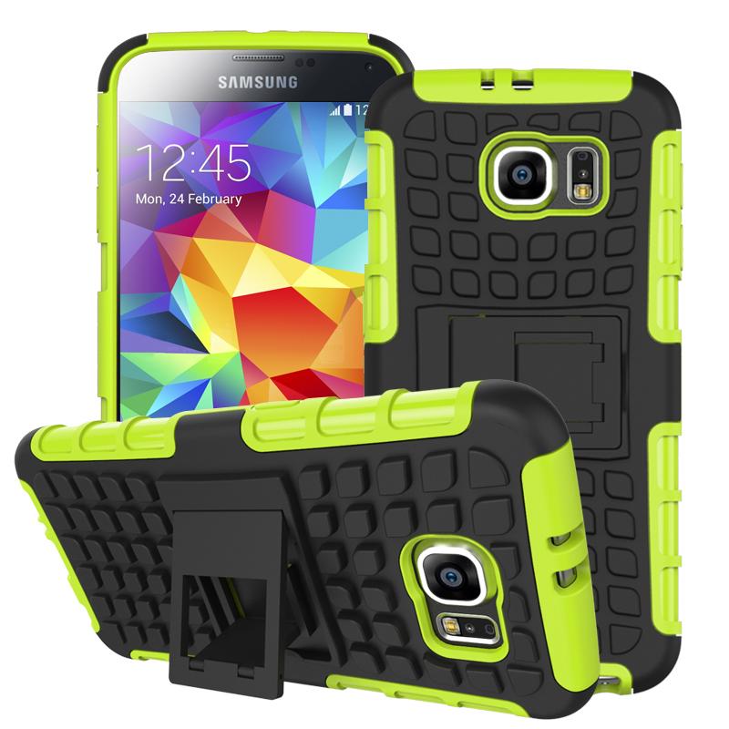Samsung Galaxy S6 - Neon Green MPERO IMPACT SR - Kickstand Case Cover