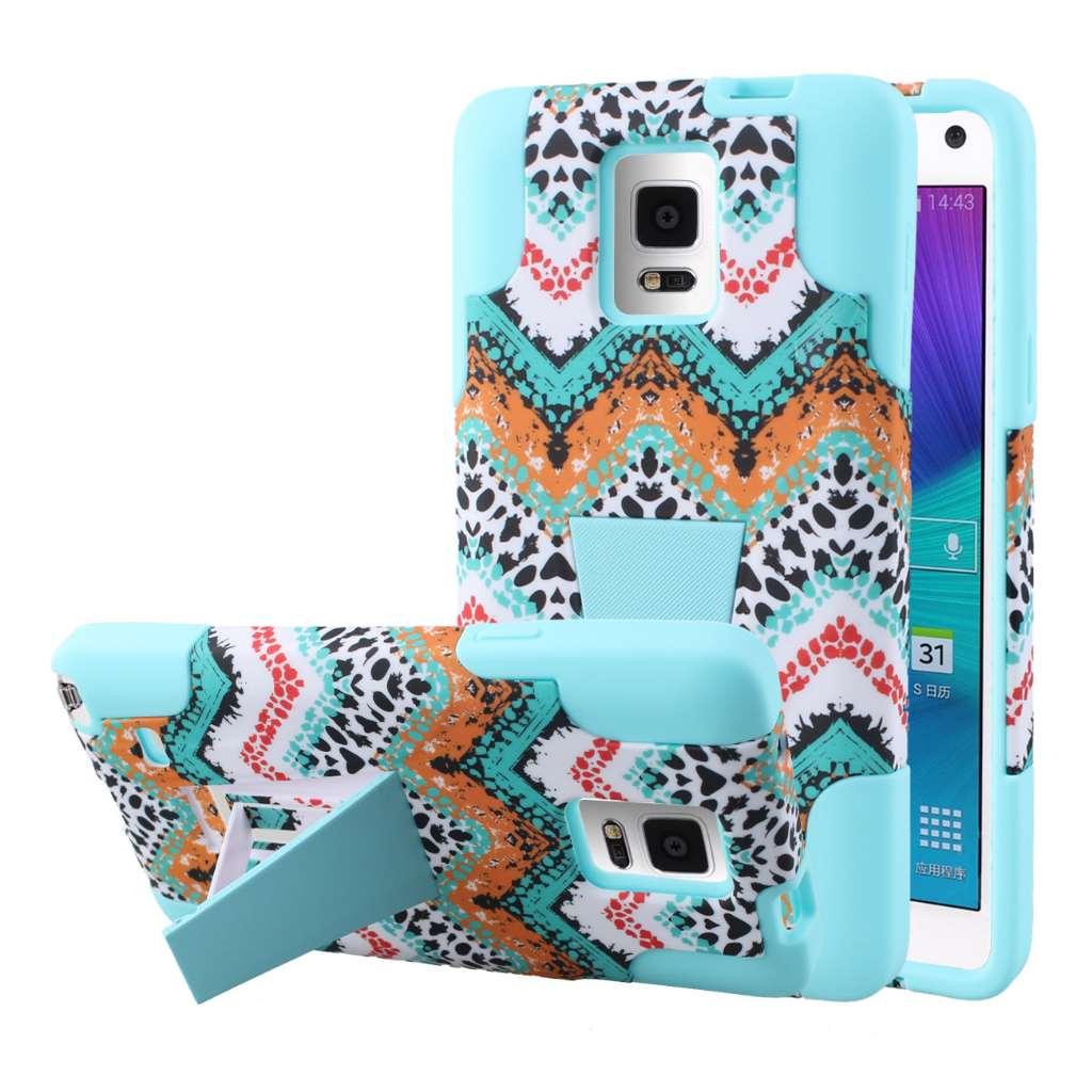 Samsung Galaxy Note 4 - Aqua Safari MPERO IMPACT X - Kickstand Case Cover