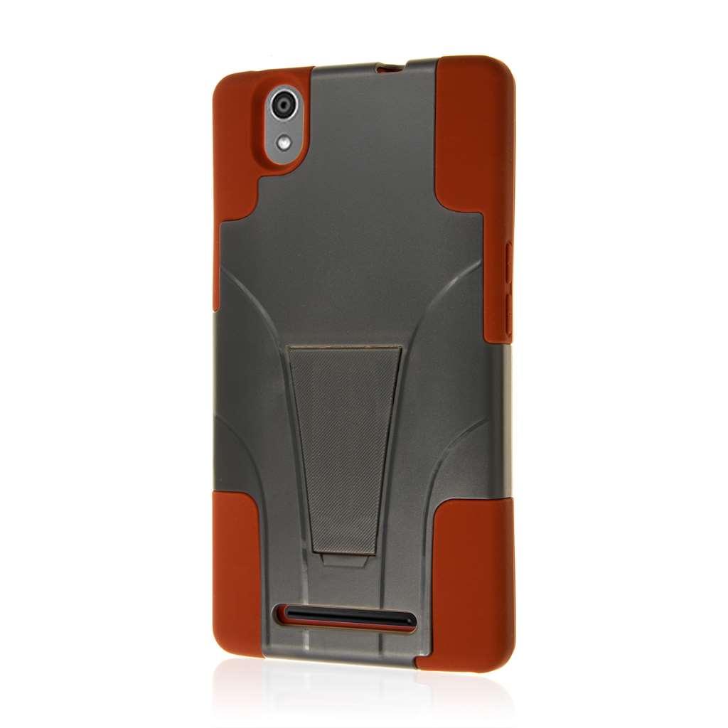 ZTE ZMAX - Sandstone / Gray MPERO IMPACT X - Kickstand Case Cover