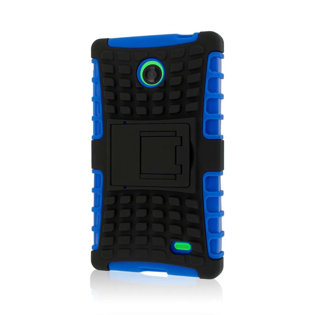 Nokia X - Blue MPERO IMPACT SR - Kickstand Case Cover