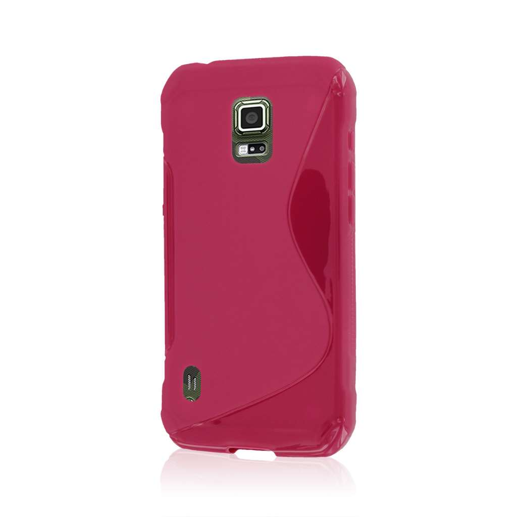 Samsung Galaxy S5 Active - Hot Pink MPERO FLEX S - Protective Case Cover