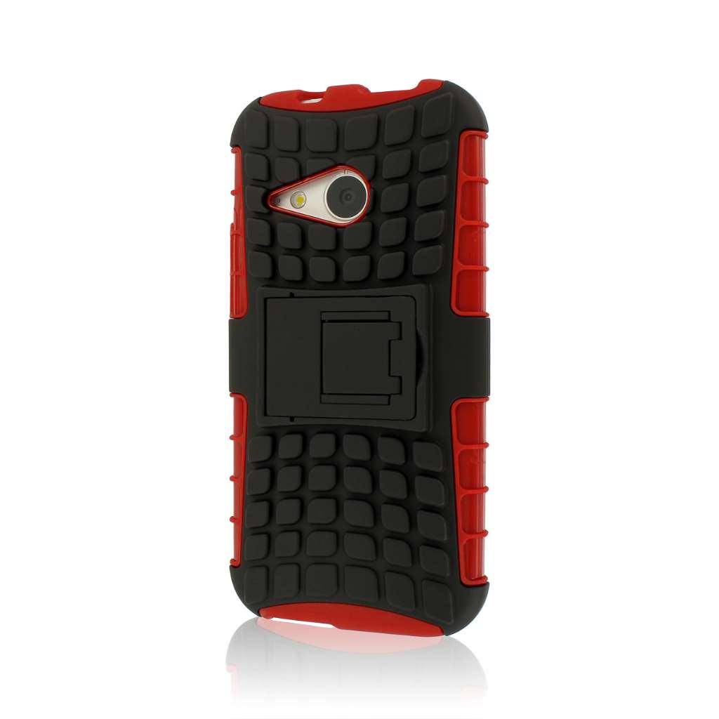 HTC One Mini 2 - Red MPERO IMPACT SR - Kickstand Case Cover