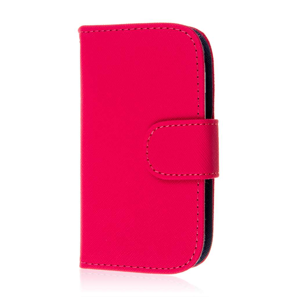 Samsung Galaxy Light - Hot Pink MPERO FLEX FLIP Wallet Case Cover