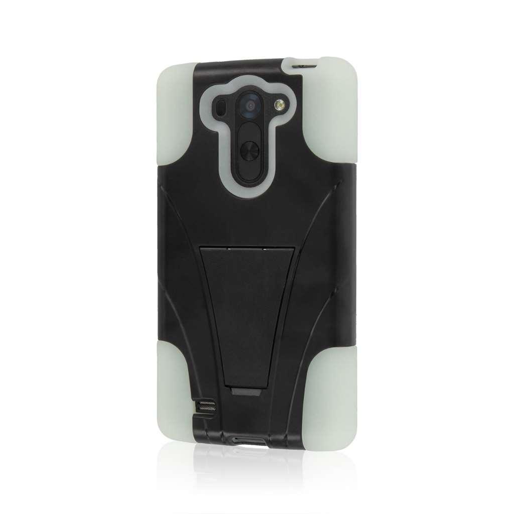 LG G Vista - Glow In The Dark Green MPERO IMPACT X - Kickstand Case Cover