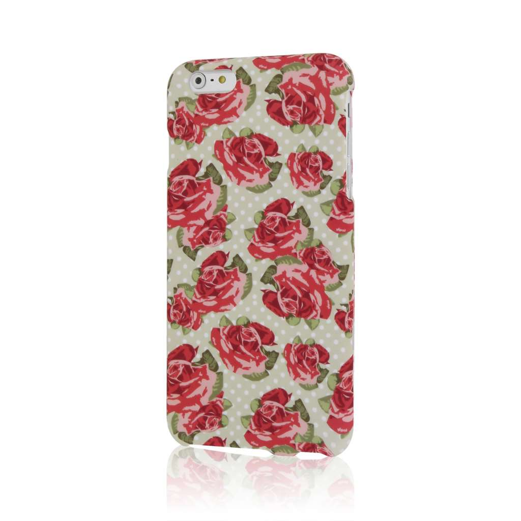 Apple iPhone 6 6S Plus - Vintage Pink Flower Combo Pack : MPERO SNAPZ - Case Cover : Color Vintage Red Roses