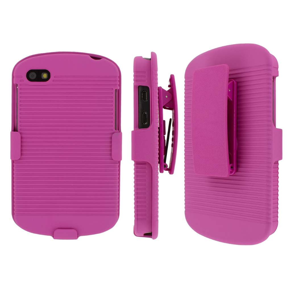 Blackberry Q10 MPERO 3 in 1 Tough Kickstand Case Cover