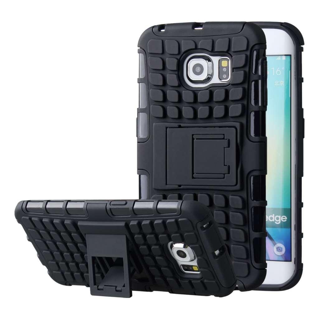 Samsung Galaxy S6 Edge - Black MPERO IMPACT SR - Kickstand Case Cover