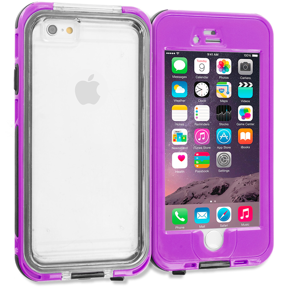 Apple iPhone 6 6S (4.7) Purple Waterproof Shockproof Dirtproof Hard Full Protection Case Cover