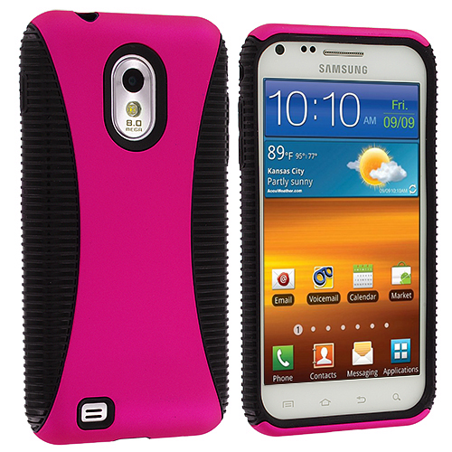 Samsung Epic Touch 4G D710 Sprint Galaxy S2 Black / Hot Pink Hybrid Hard/TPU Case Cover