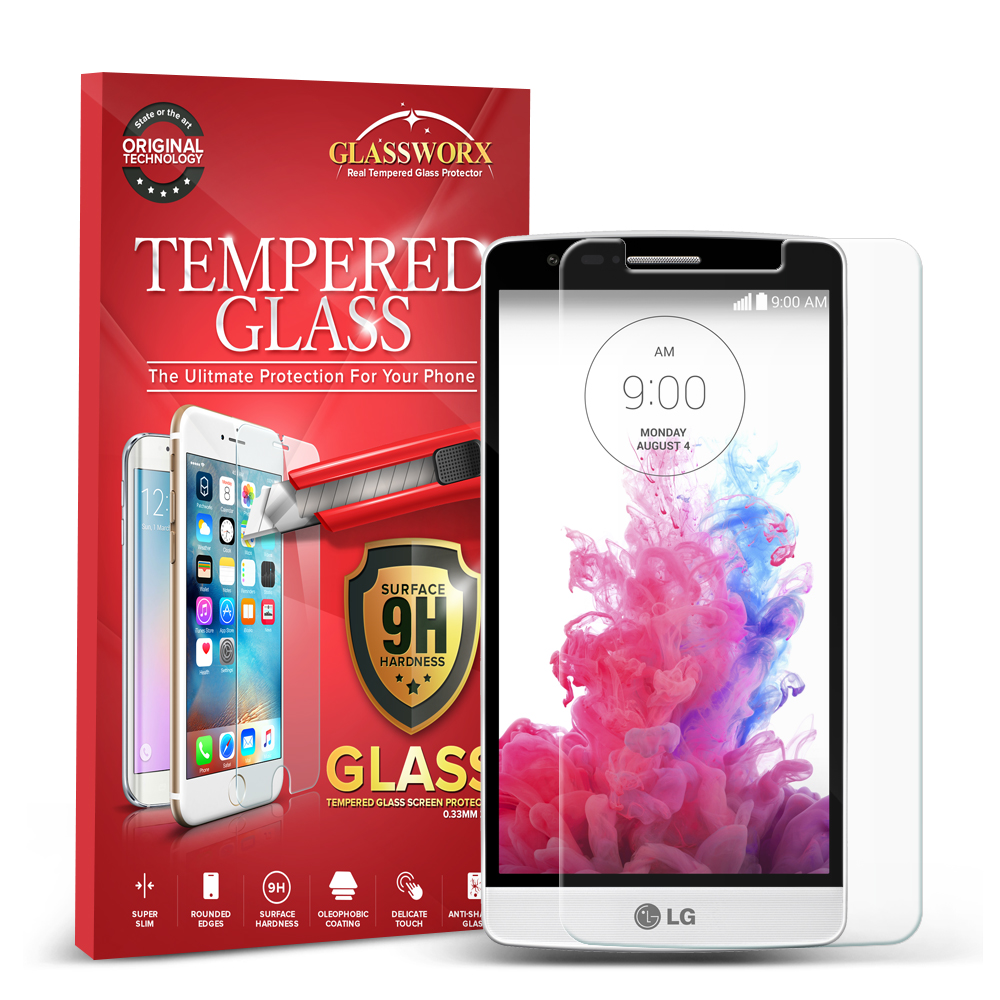 LG G3 Vigor D725 G3s GlassWorX HD Clear Tempered Glass Screen Protector