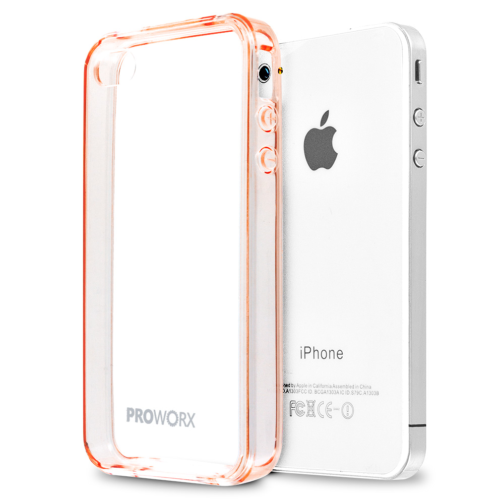 Apple iPhone 4 / 4S Rose Gold ProWorx Shock Absorption Case Bumper TPU & Anti-Scratch Clear Back Cover