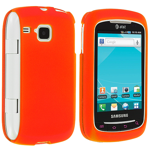 Samsung Doubletime i857 Orange Hard Rubberized Case Cover