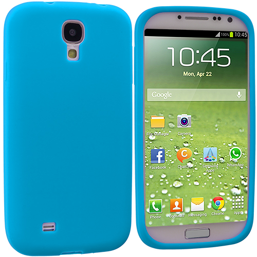 Samsung Galaxy S4 Baby Blue Silicone Soft Skin Case Cover