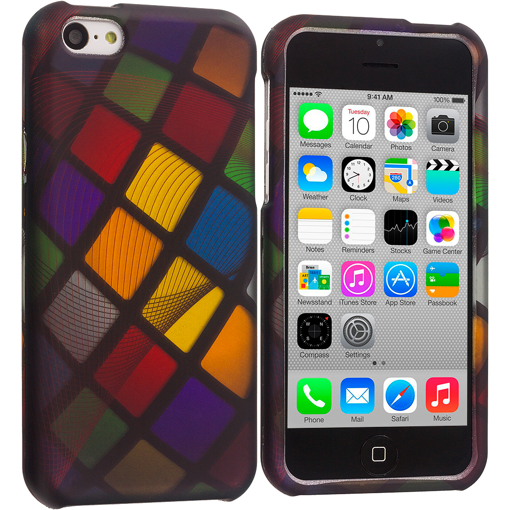 Apple iPhone 5C Color Ball Hard Rubberized Design Case Cover