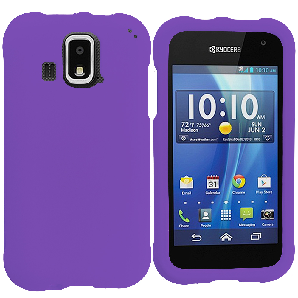 Kyocera Hydro XTRM Purple Hard Rubberized Case Cover