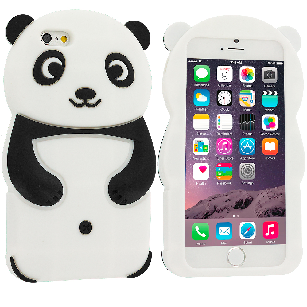 Apple iPhone 6 6S (4.7) Panda Silicone Design Soft Skin Case Cover