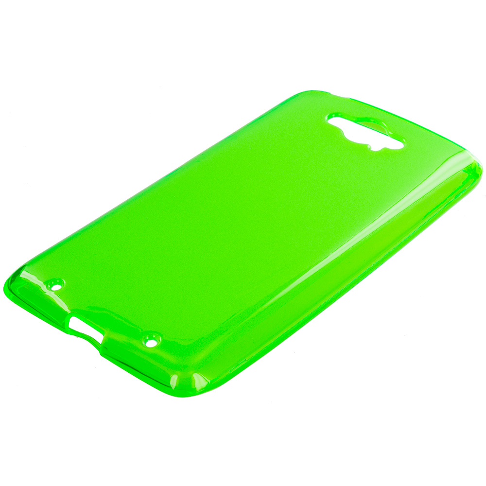 Motorola Droid Turbo Neon Green TPU Rubber Skin Case Cover