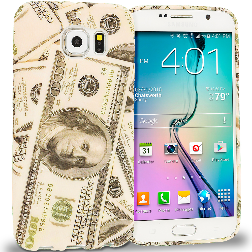 Samsung Galaxy S6 Money TPU Design Soft Rubber Case Cover