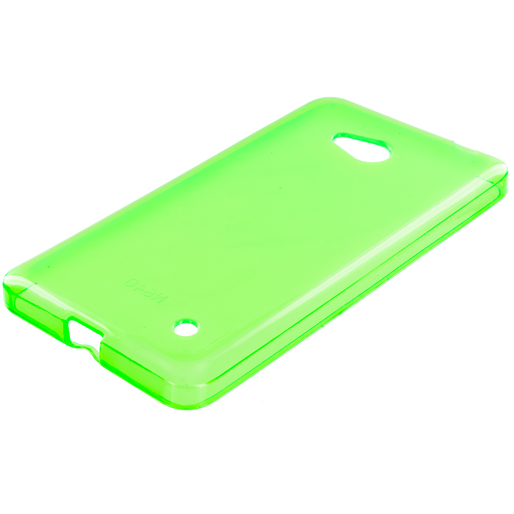 Microsoft Lumia 640 Neon Green TPU Rubber Skin Case Cover