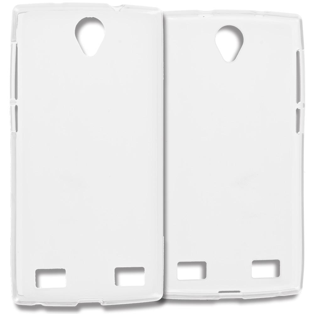 ZTE Zmax 2 Clear TPU Rubber Skin Case Cover