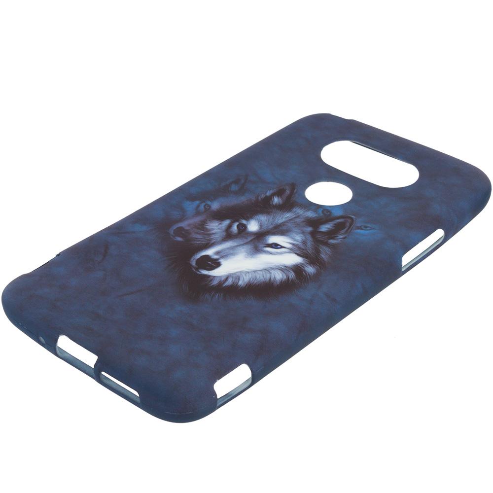 LG G5 Wolf TPU Design Soft Rubber Case Cover
