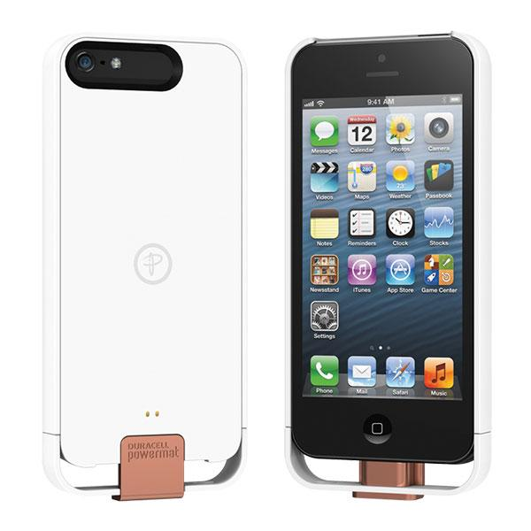 iPhone 5 - White Duracell PowerMat Access Case