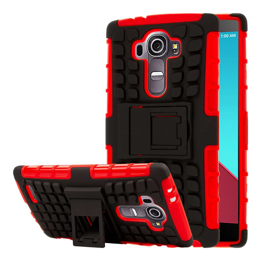 LG G4 - Red MPERO IMPACT SR - Kickstand Case Cover