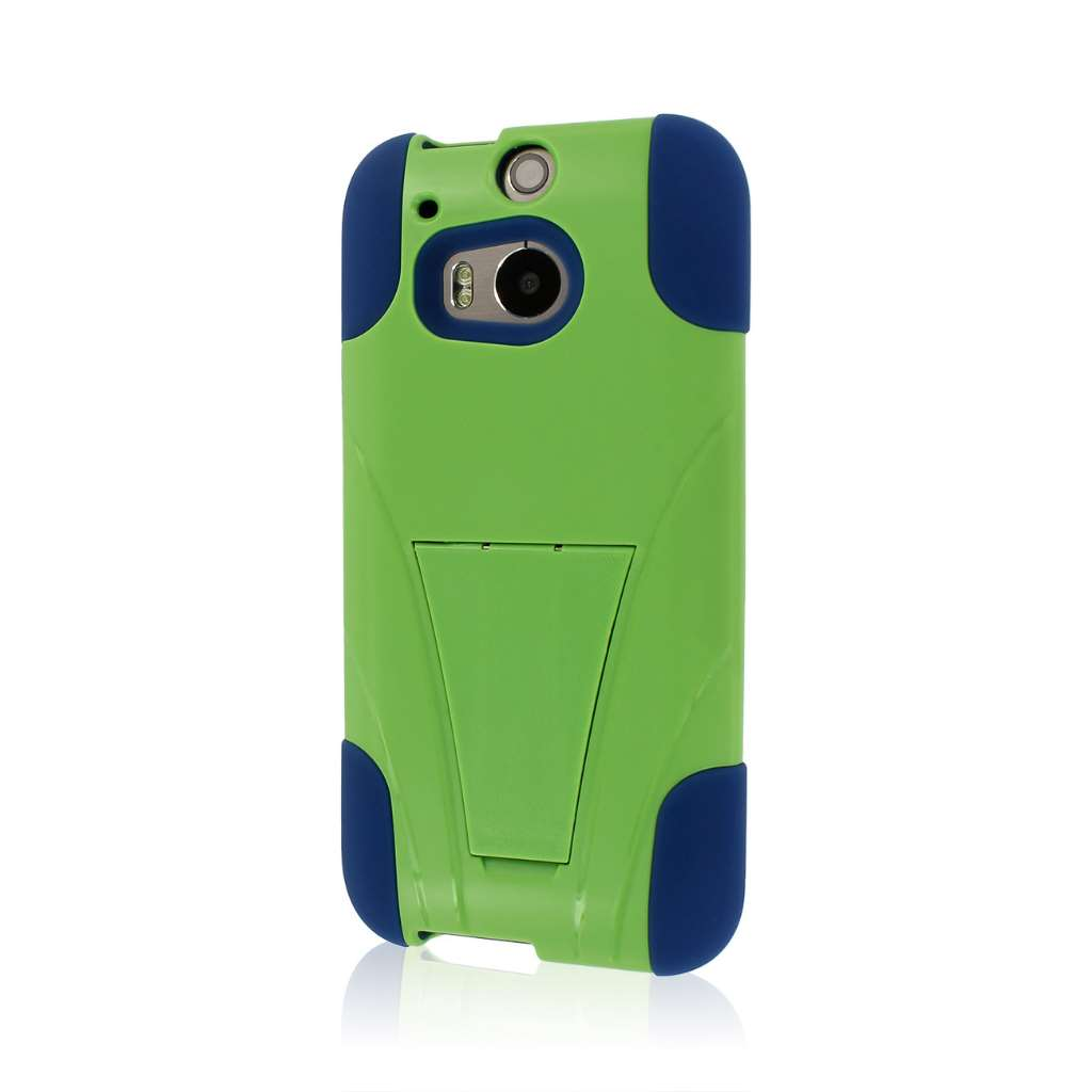 HTC One M8 - Blue-Green MPERO IMPACT X - Kickstand Case Cover